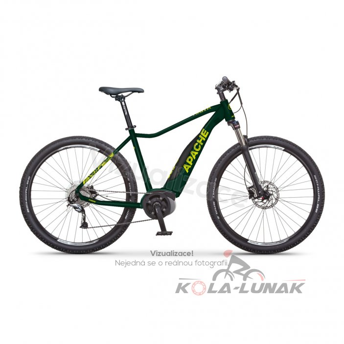 "Elektrokolo MTB 29"" Apache Hawk Bosch Active plus 500 2020 dark green, 17"""